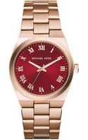 Michael Kors Channing Rose Golden Stainless Steel Watch - Lyst