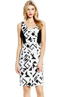 Vince Camuto Printed Ponte Bodycon Dress - Lyst