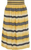Temperley London Pleated Printed Chiffon Skirt - Lyst
