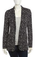 Diane Von Furstenberg Vint Fleckprint Silk Jacket - Lyst