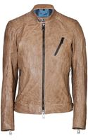 Belstaff Leather Kirkham Jacket - Lyst
