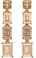 Oscar de la Renta Crystal Baguette Drop Earring - Lyst