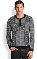 Versace Geometric Zip Sweater - Lyst