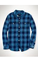 Polo Ralph Lauren Indigo-dyed Checked Workshirt - Lyst