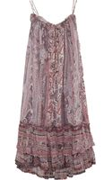 Isabel Marant Vally Printed Silkmuslin Dress - Lyst