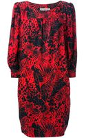 Yves Saint Laurent Vintage Abstract Print Oversize Shift Dress - Lyst