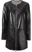 Tory Burch Faux Leather Coat - Lyst