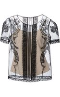 Alice By Temperley Embroidered Sheer Top - Lyst