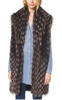 Michael Kors Fox Fur Tweed Vest - Lyst