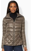 Lauren by Ralph Lauren Hooded Down Jacket - Lyst