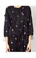 See By Chloé Playsuit with Full Sleeved in Spaced Out Flower Print - Lyst