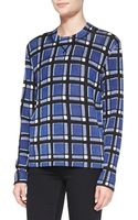 Marc By Marc Jacobs Toto Plaid Crepe Sweater - Lyst