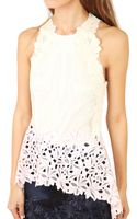 3.1 Phillip Lim Sleeveless Floral Lace Tank - Lyst