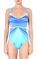 Gottex Seraphine Square-neck Swimsuit - Lyst