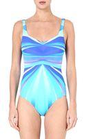 Gottex Seraphine Square-neck Swimsuit - Lyst