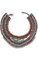 Iosselliani Stud Stone Necklace Redturquoise - Lyst