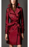 Burberry Technical Silk Trench Coat - Lyst
