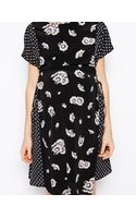 Asos Maternity Exclusive Dress in Daisy Print with Lattice Side - Lyst