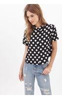 Forever 21 Boxy Polka Dot Shirt - Lyst