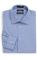 Saks Fifth Avenue Black Label Modern Classic Fit Pencil Stripe Dress Shirt - Lyst