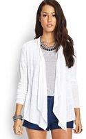 Love 21 Lace Back Linen Cardigan - Lyst