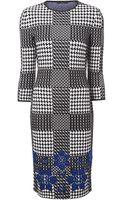 Alexander McQueen Fit Knit Print Dress - Lyst