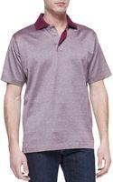 Ermenegildo Zegna Melangeknit Polo Shirt - Lyst