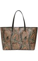 Etro Large Calcutta Print Coated Canvas Tote - Lyst