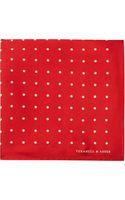 Turnbull & Asser Polka-dot Pocket Square - Lyst