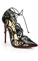Christian Louboutin Impera Lasercut Patent Leather Pumps - Lyst