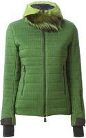 Moncler Grenoble Fur Trimmed Jacket - Lyst