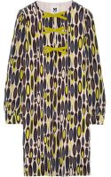 M Missoni Printed Silk Crepe Dress - Lyst
