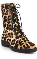 Diane von Furstenberg Ace Leopardprint Calf Hair Ankle Boots - Lyst