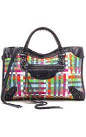 What Goes Around Comes Around Balenciaga Woven Classic City Bag - Multi - Lyst