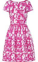 Oscar de la Renta Printed Stretch Cotton Dress - Lyst