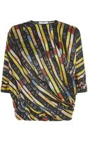 Givenchy Sequin Print Draped Top - Lyst
