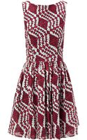 Thakoon Addition Red Lace Backless Flared Dress - Lyst