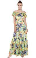 Isolda Printed Silk Chiffon Dress - Lyst