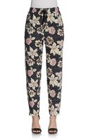 Elizabeth And James Bruno Silk Print Trouser - Lyst