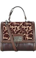 Dolce & Gabbana Snakeskin Tapestry Monica Top Handle Bag - Lyst