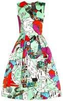 Mary Katrantzou Astere Poppies-print Satin Dress - Lyst