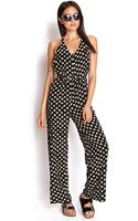 Forever 21 Daisy Print Jumpsuit - Lyst