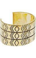 House Of Harlow Three Tiered Cuff Bracelet - Lyst