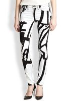 Rag & Bone The Legging Printed Skinny Jeans - Lyst