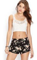 Forever 21 Lace Crochet Crop Top - Lyst