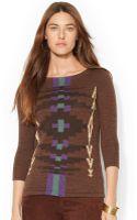 Lauren by Ralph Lauren Petite Southwestprint Sweater - Lyst