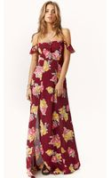 Flynn Skye Bardot Maxi Dress - Lyst
