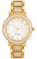 Kate Spade Ladies Gramercy Goldtone Mother Of Pearl Watch - Lyst