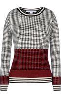 Diane Von Furstenberg Long Sleeve Sweater - Lyst