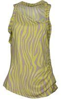 Guess Zebra Print Sleeveless Top - Lyst